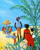 Caribbean Art - Janice Sylvia Brock - Father & Son